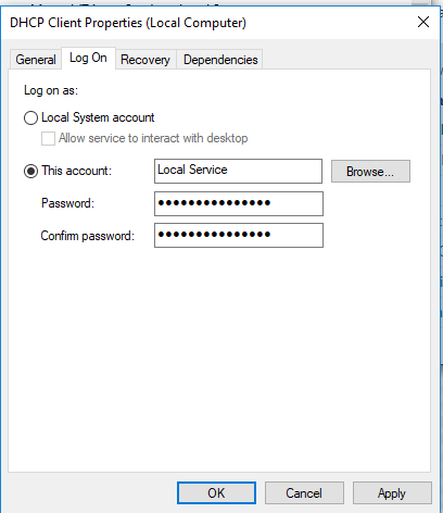 Viewing DHCP Client and DNS Client Status