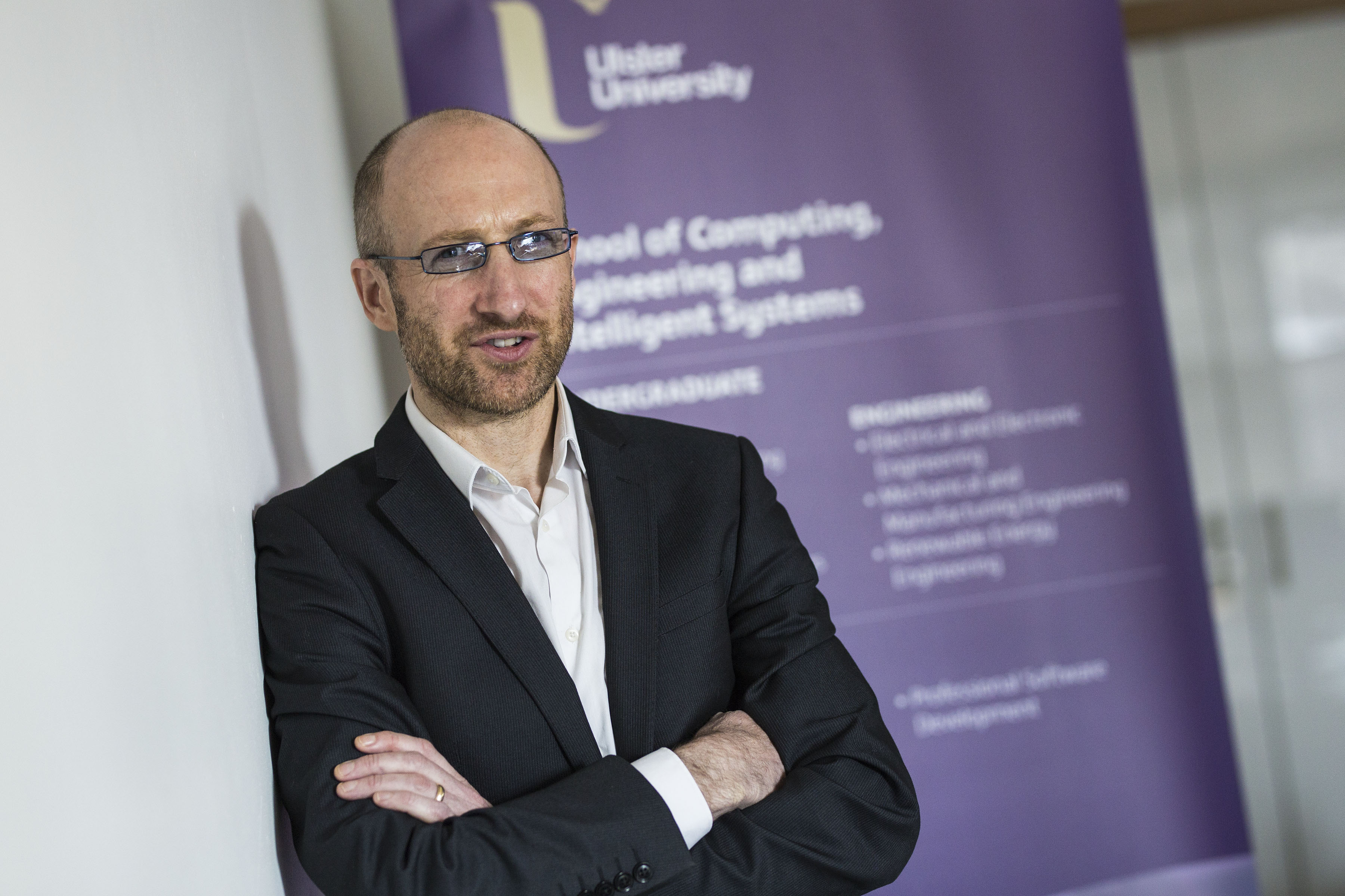 Professor Kevin Curran - Professor of Cyber Security. (Photo: Nigel McDowell/Ulster University)