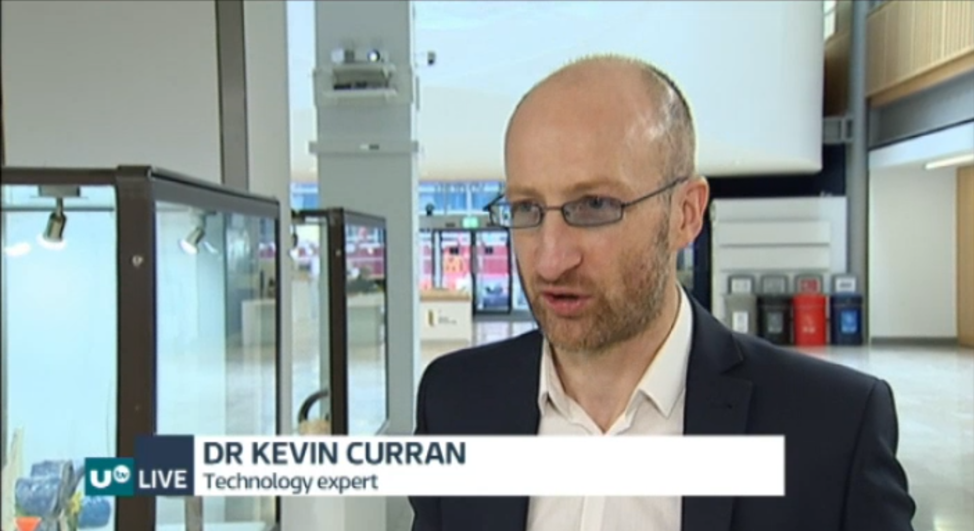 Professor Kevin Curran, Ulster University interview on UTV Live News about the complexities of technology in a frictionless border as a result of Brexit.