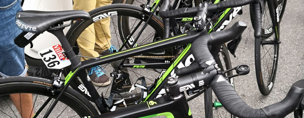 The GPS tracker of Team Dimension Data's Tom-Jelte Slagter.