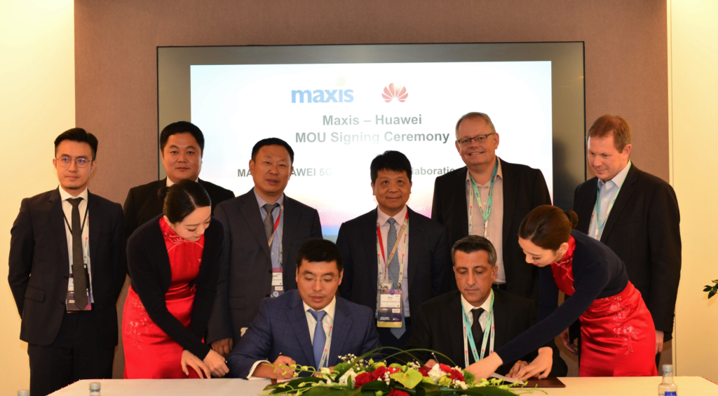 Maxis and Huawei signed a MoU to cooperate on full-fledged 5G trials with end-to-end systems and services to accelerate 5G in Malaysia.