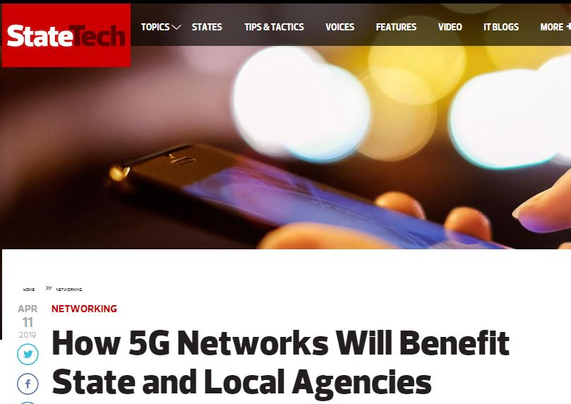 rofessor Kevin Curran, Ulster University in an interview in StateTech on how 5G will enhance services in smart cities and public safety.