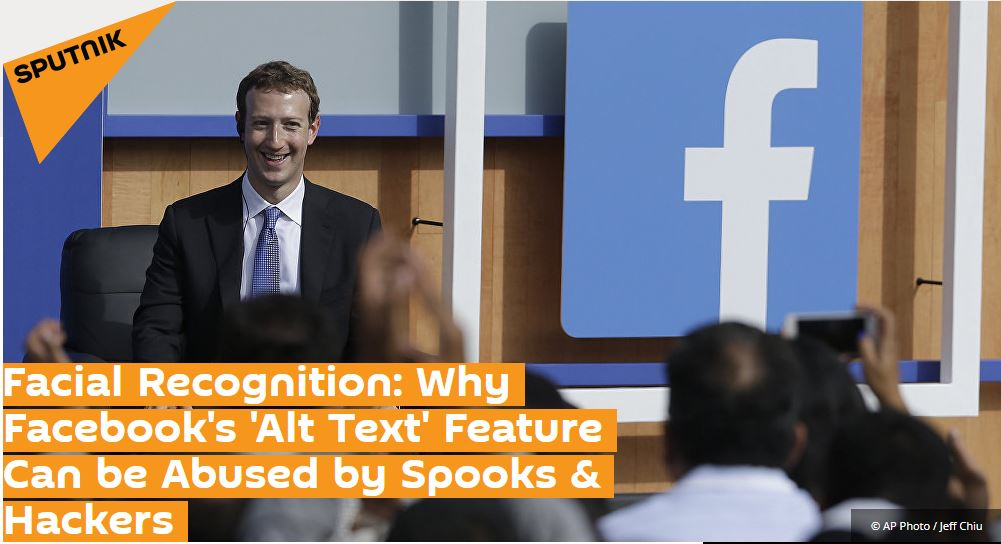 Professor Kevin Curran, Ulster University in an interview with Sputnik International News on Facebook's intrusive use of technology to classify image contents.