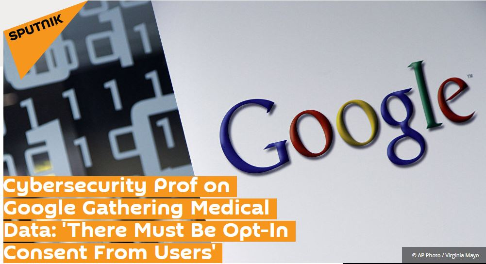 Professor Kevin Curran, Ulster University in an interview with Sputnik News where I say tighter regulations on patient data sharing should be introduced in the US.