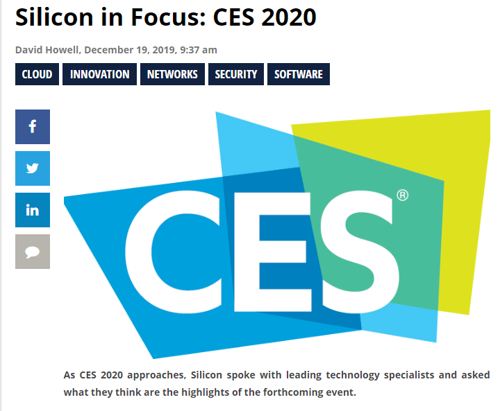 Professor Kevin Curran, Ulster University in an interview with Silicon UK on security & privacy presentations & technology at the upcoming Consumer Electronics Show 2020 in Vegas.