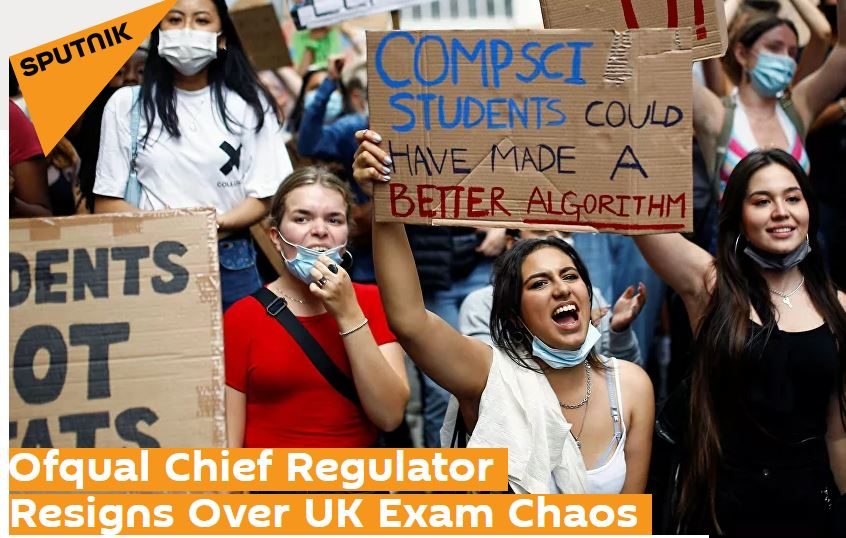 Professor Kevin Curran, Ulster University in an interview with Sputnik News on the problems caused by the Office of Qualifications and Examinations Regulations which resulted in chaos.