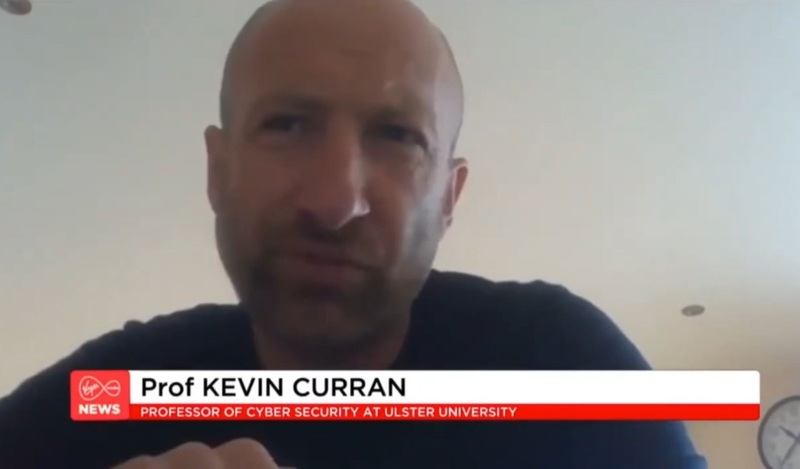 Professor Kevin Curran, Ulster University in an interview on Virgin Media News on the ongoing saga of the ransomware attack on the HSE.