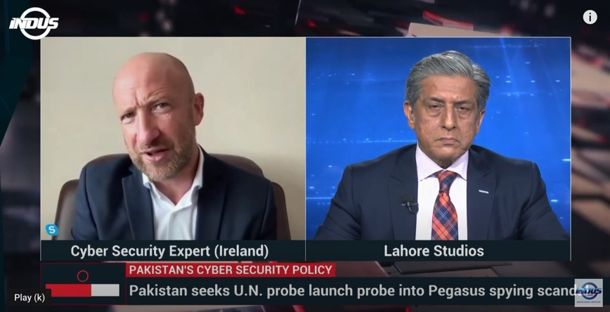 Professor Kevin Curran, Ulster University in an interview with Pakistan Indus TV on techniques governments can use to secure Pakistan's IT infrastructure.