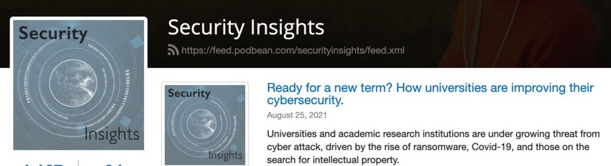 Professor Kevin Curran, Ulster University in an interview with Security Insights podcast on potential attacks on university infrastructure.